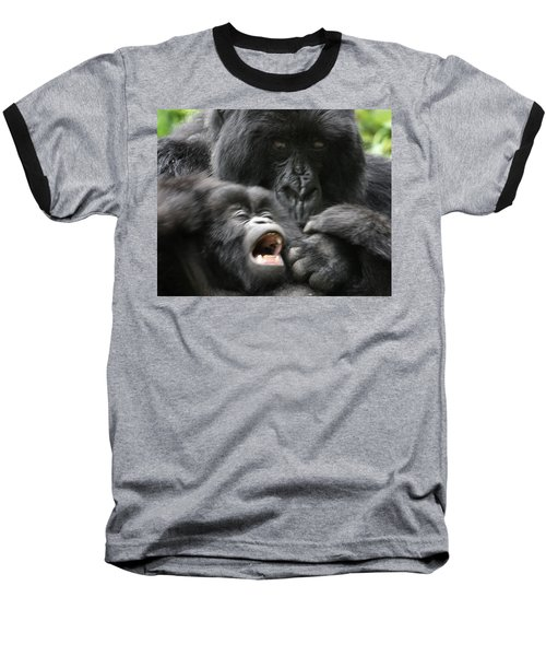 Mountain Gorilla Adf2 Baseball T-Shirt by David Beebe