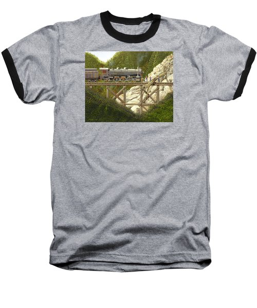 Baseball T-Shirt featuring the painting Mountain Impasse by Gary Giacomelli