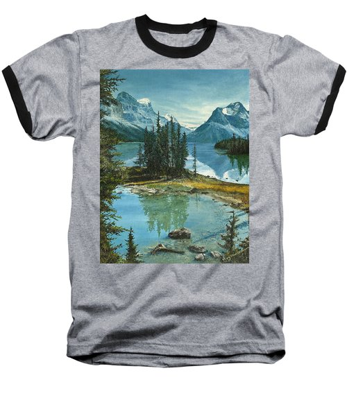 Mountain Island Sanctuary Baseball T-Shirt by Mary Ellen Anderson