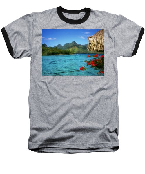 Baseball T-Shirt featuring the painting Mountain Lake by Bruce Nutting