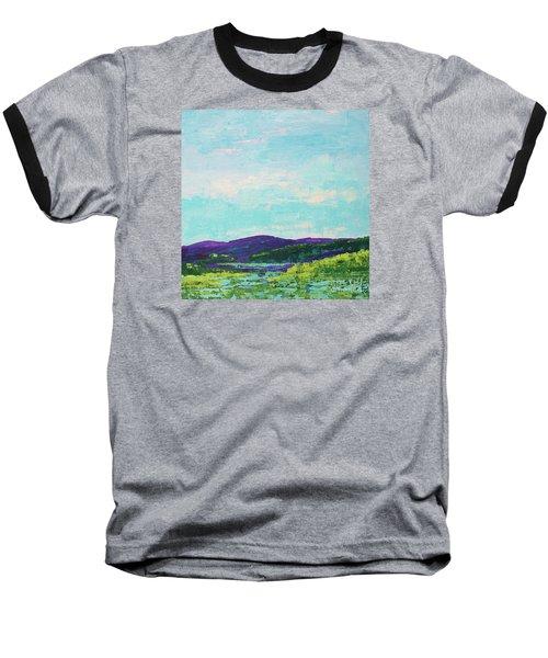 Mountain Lake Baseball T-Shirt by Gail Kent
