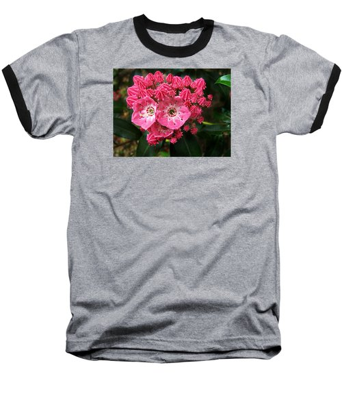 Mountain Laurel ' Olympic Fire ' Baseball T-Shirt by William Tanneberger