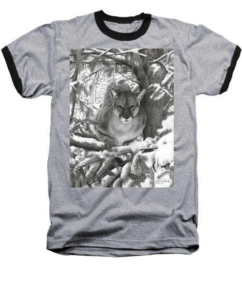 Mountain Lion Hideout Baseball T-Shirt