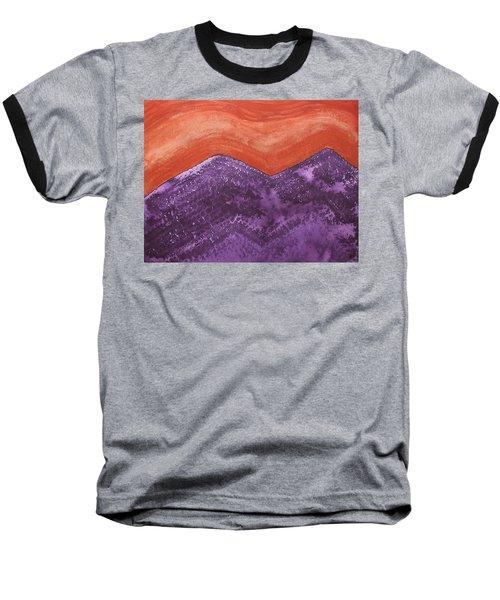 Mountain Majesty Original Painting Baseball T-Shirt