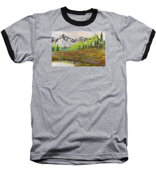 Mountain Meadow Baseball T-Shirt by Jack Malloch
