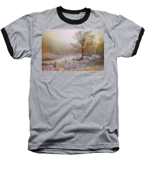 Mountain Mist II Baseball T-Shirt by William Beuther