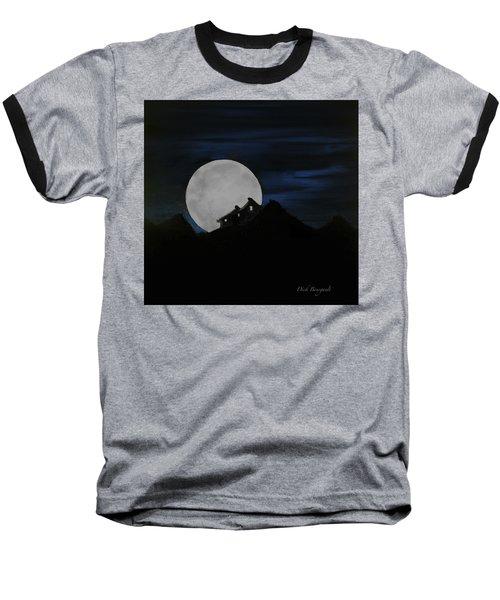Mountain Monastery Baseball T-Shirt by Dick Bourgault