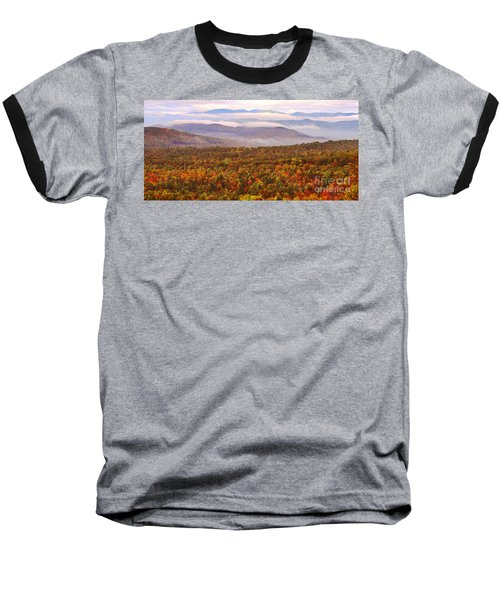 Mountain Mornin' In Autumn Baseball T-Shirt