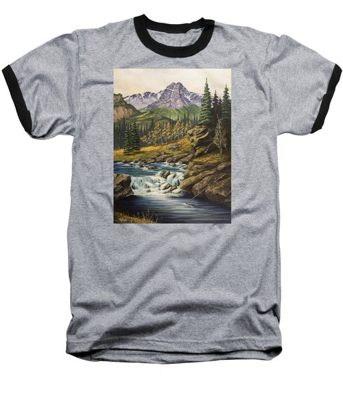 Mountain Of The Holy Cross Baseball T-Shirt by Jack Malloch