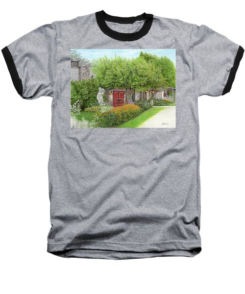 Baseball T-Shirt featuring the painting Mountain Playhouse Jennerstown Pa by Albert Puskaric