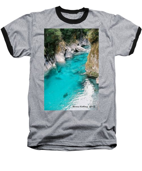 Baseball T-Shirt featuring the painting Mountain Pool by Bruce Nutting
