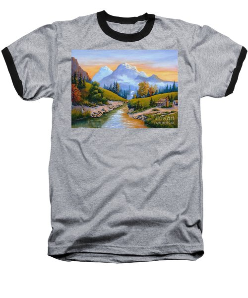 Mountain Stream Baseball T-Shirt