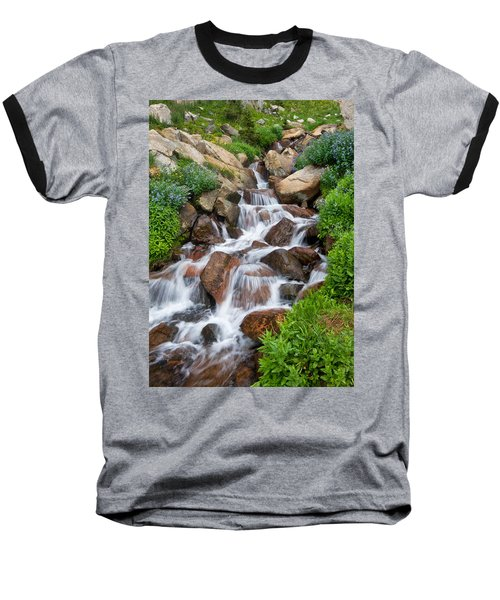Baseball T-Shirt featuring the photograph Mountain Stream by Ronda Kimbrow