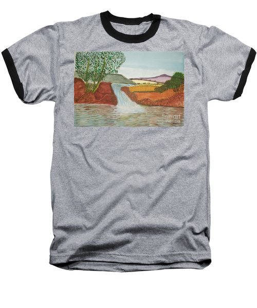 Mountain Stream Baseball T-Shirt by Tracey Williams