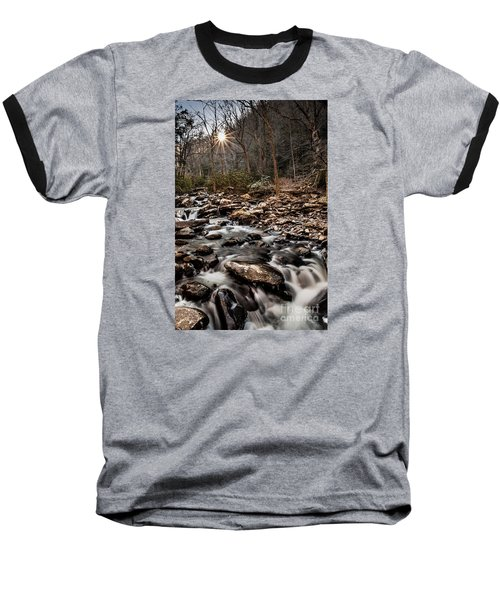 Baseball T-Shirt featuring the photograph Icy Mountain Stream by Debbie Green