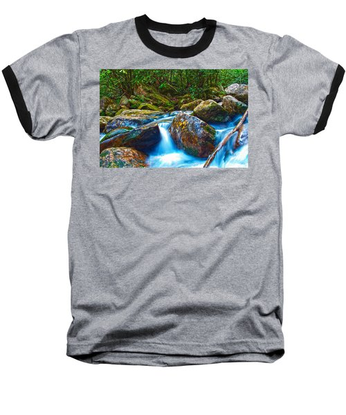Baseball T-Shirt featuring the photograph Mountain Streams by Alex Grichenko
