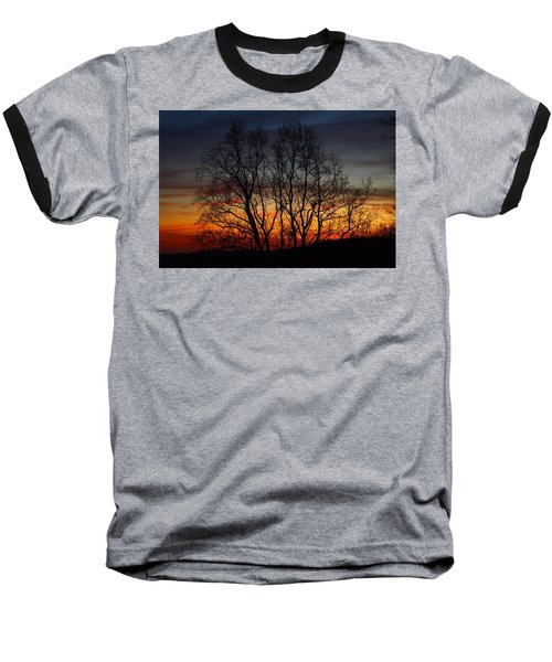 Baseball T-Shirt featuring the photograph Mountain Sunset by Kathryn Meyer