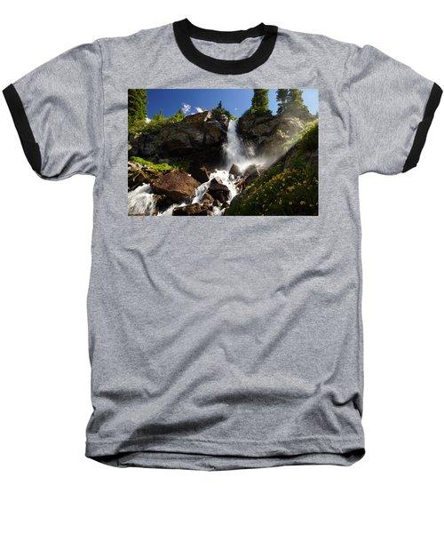 Mountain Tears Baseball T-Shirt by Jeremy Rhoades