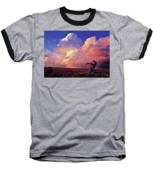 Mountain Thunder Shower Baseball T-Shirt
