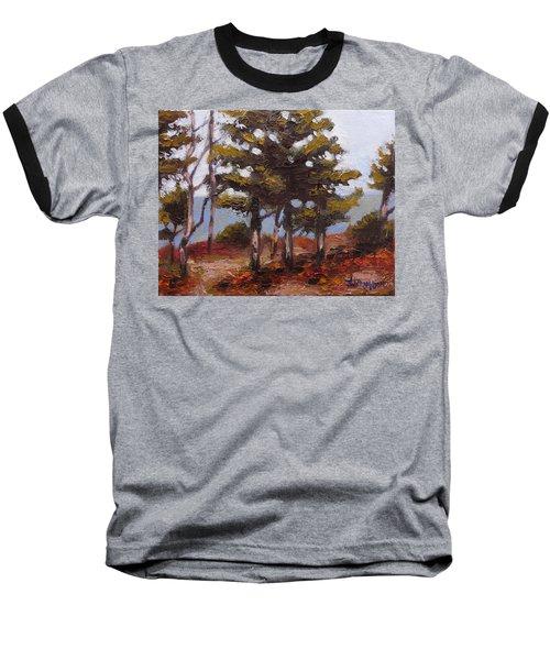 Mountain Top Pines Baseball T-Shirt by Jason Williamson
