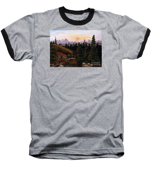 Mountain View Baseball T-Shirt by Barbara Griffin