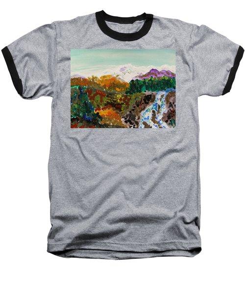 Mountain Water Baseball T-Shirt by Mary Carol Williams