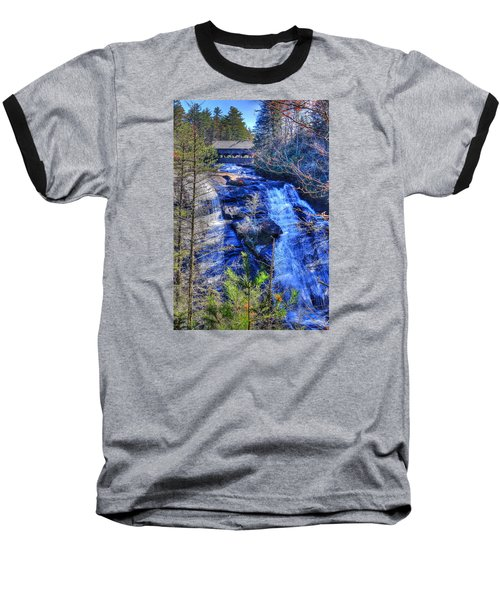 Mountain Waterfall Baseball T-Shirt