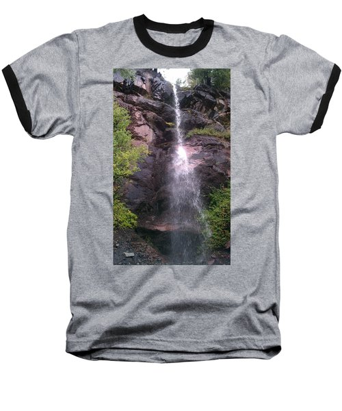 Baseball T-Shirt featuring the photograph Mountain Waterfall by Fortunate Findings Shirley Dickerson