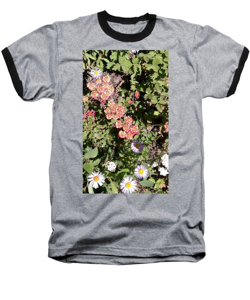 Baseball T-Shirt featuring the photograph Mountain Wildflowers by Fortunate Findings Shirley Dickerson