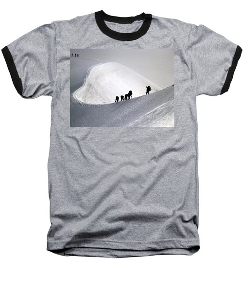 Mountaineers To Conquer Mont Blanc Baseball T-Shirt