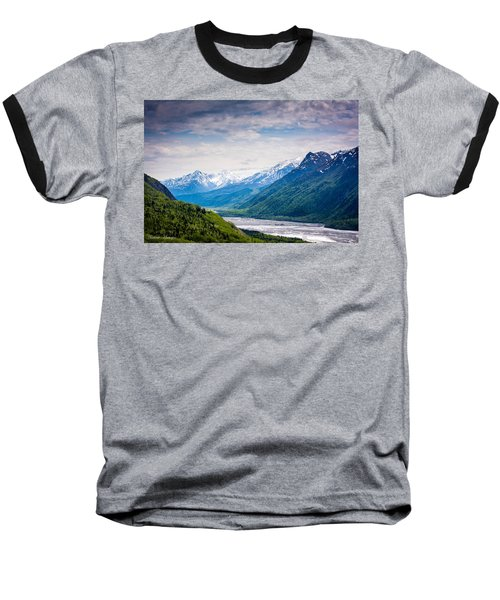 Mountains Along Seward Highway Baseball T-Shirt
