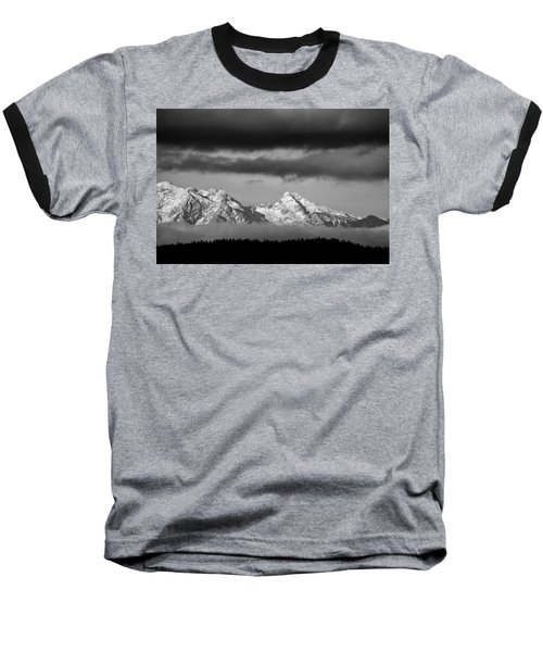 Mountains And Clouds Baseball T-Shirt