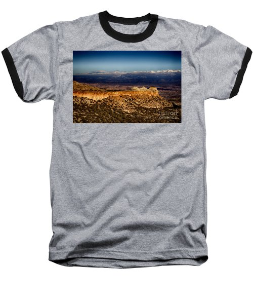 Mountains At Senator Clinton P. Anderson Scenic Route Overlook  Baseball T-Shirt by Douglas Barnard