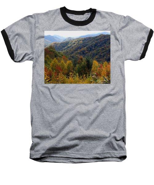 Mountains Leaves Baseball T-Shirt