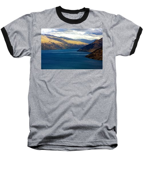 Mountains Meet Lake #2 Baseball T-Shirt by Stuart Litoff
