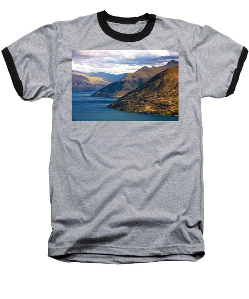 Mountains Meet Lake Baseball T-Shirt