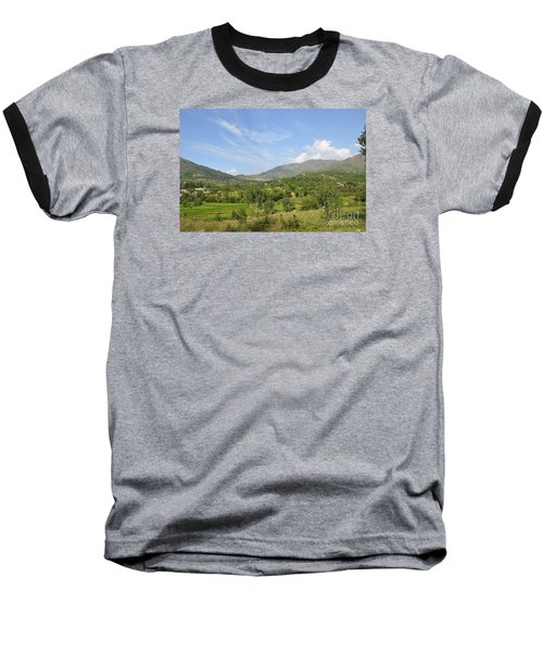 Baseball T-Shirt featuring the photograph Mountains Sky And Clouds Swat Valley Pakistan by Imran Ahmed