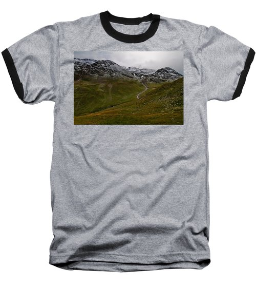 Mountainscape With Snow Baseball T-Shirt