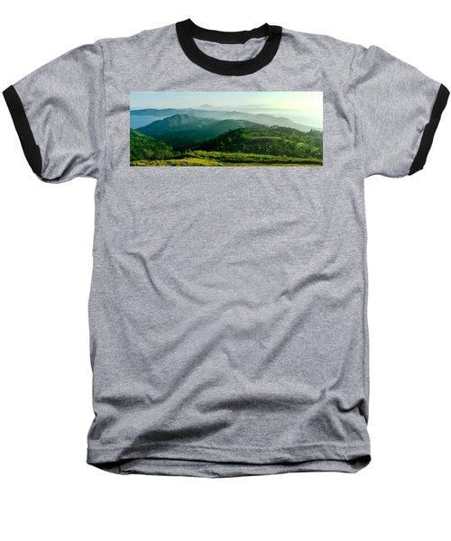 Mountaintop Panorama Baseball T-Shirt