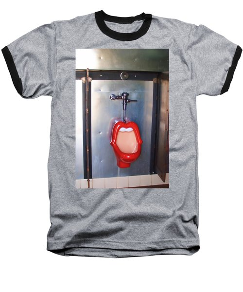 Mouth Urinal Two Baseball T-Shirt by Cathy Anderson