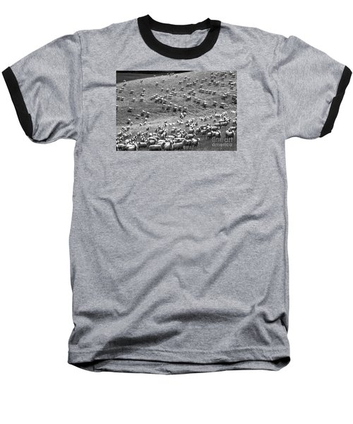 Moving Hillside Baseball T-Shirt by Nareeta Martin