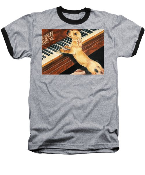 Baseball T-Shirt featuring the drawing Mozart's Apprentice by Barbara Keith