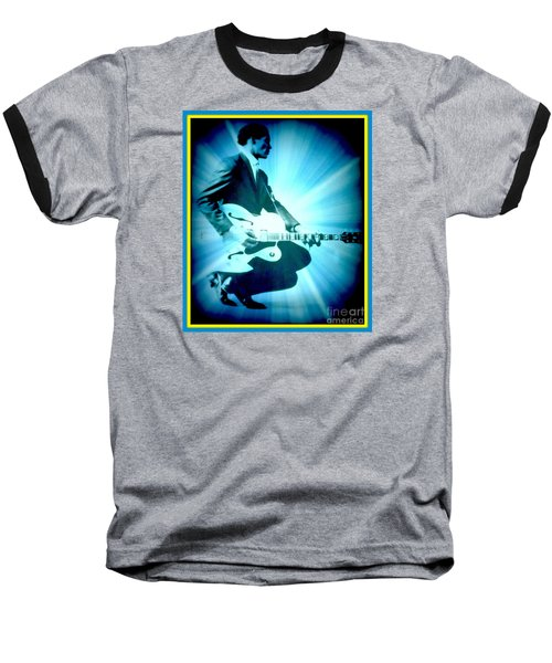 Mr Chuck Berry Blueberry Hill Style Edited 2 Baseball T-Shirt by Kelly Awad