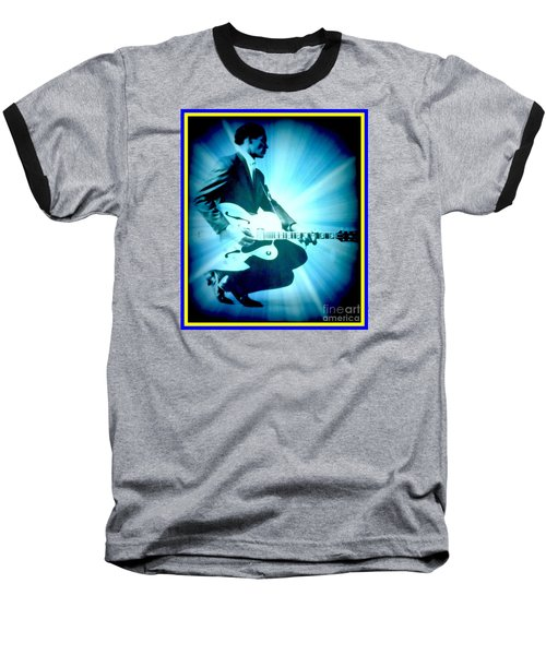 Mr Chuck Berry Blueberry Hill Style Edited Baseball T-Shirt by Kelly Awad