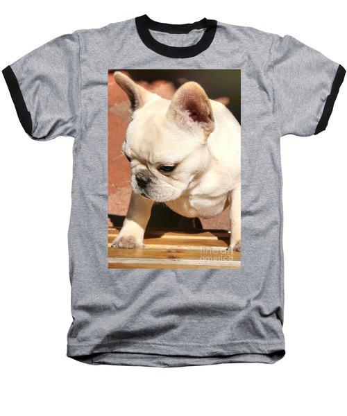 French Bulldog Ms Quiggly  Baseball T-Shirt