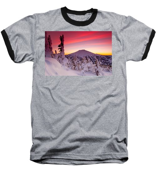 Mt. Bachelor Winter Twilight Baseball T-Shirt