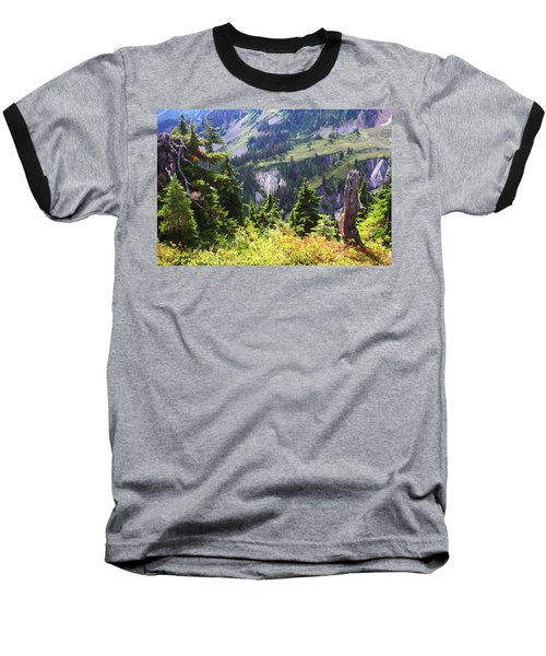 Mt. Baker Washington Baseball T-Shirt by Tom Janca