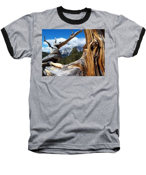 Mt. Charleston Thru A Tree Baseball T-Shirt