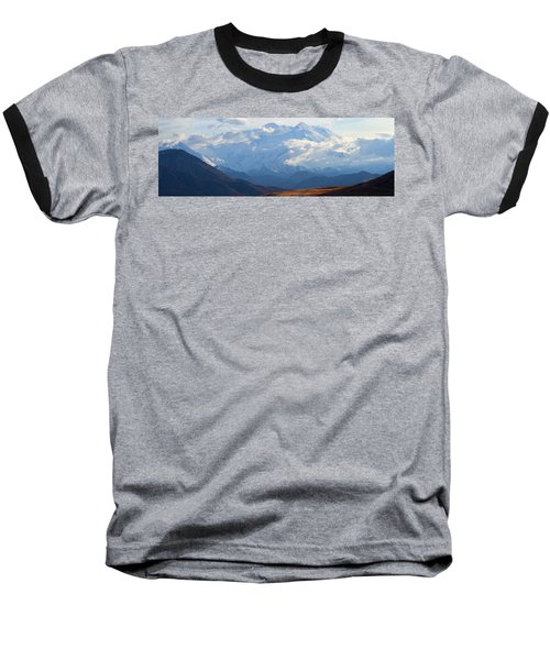 Baseball T-Shirt featuring the photograph Mt. Denali by Ann Lauwers