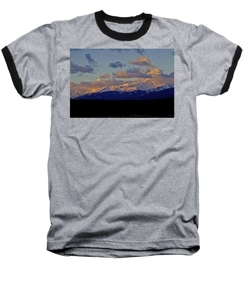 Mt Elbert Sunrise Baseball T-Shirt